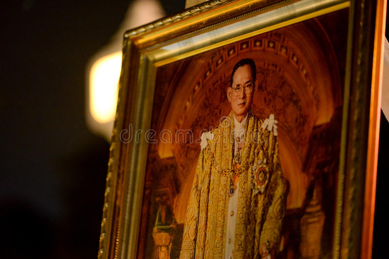 Retrato de rey Bhumibol fotos de archivo libres de regalías