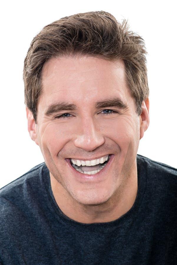 Retrato de risa del hombre hermoso maduro imágenes de archivo libres de regalías