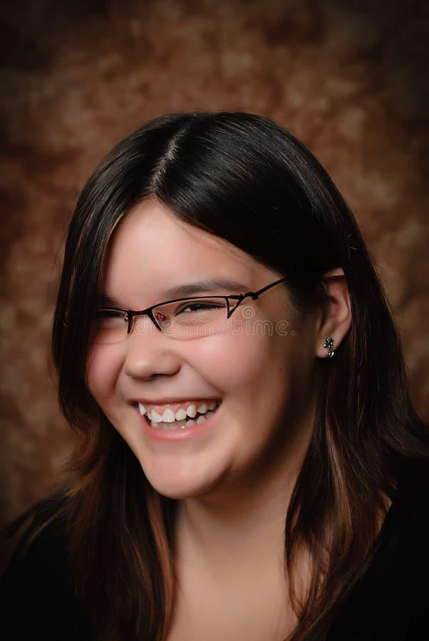 Retrato de riso da menina fotografia de stock royalty free