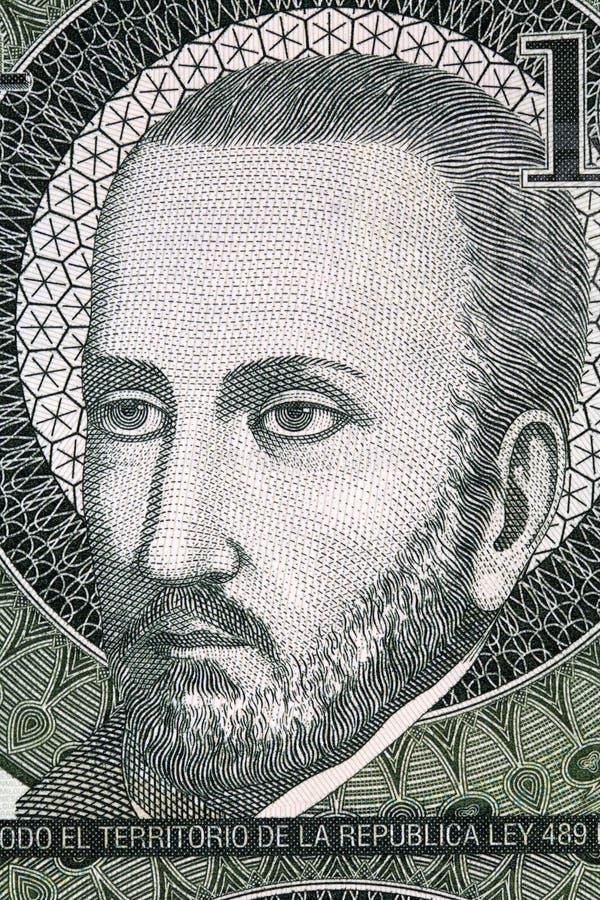 Retrato de Roque Gonzalez de Santa Cruz fotografía de archivo libre de regalías