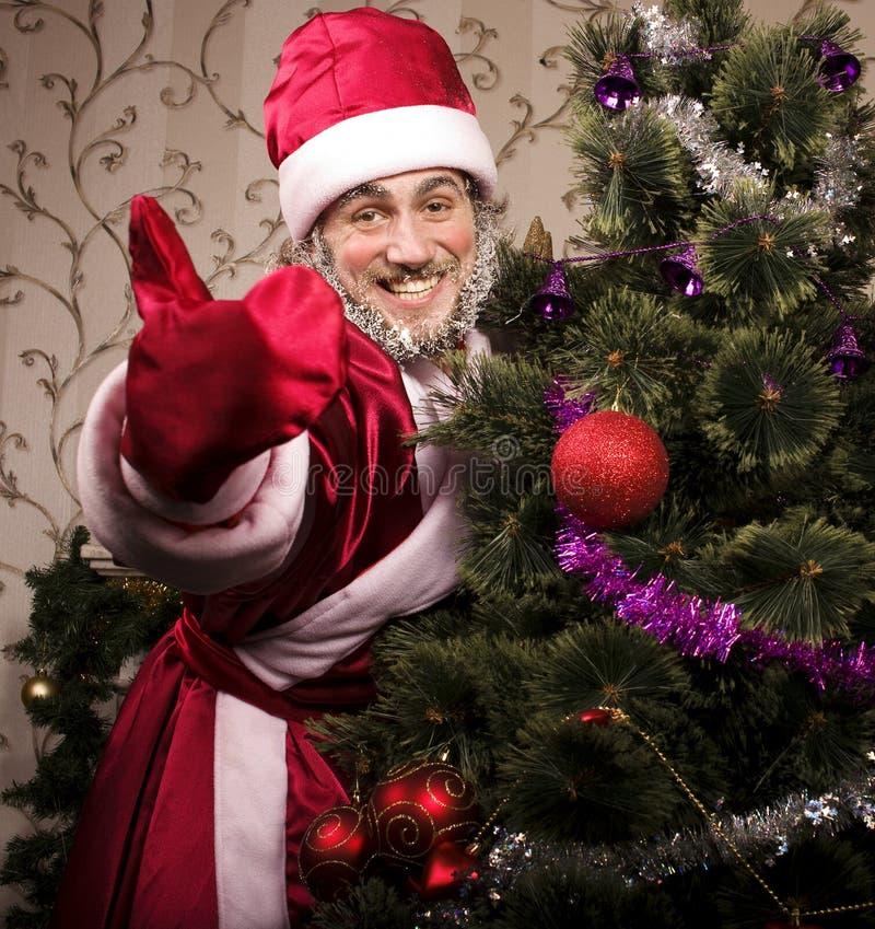 Retrato de Santa Claus divertida fotografía de archivo libre de regalías
