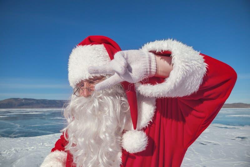 Retrato de Santa Claus fora foto de stock royalty free