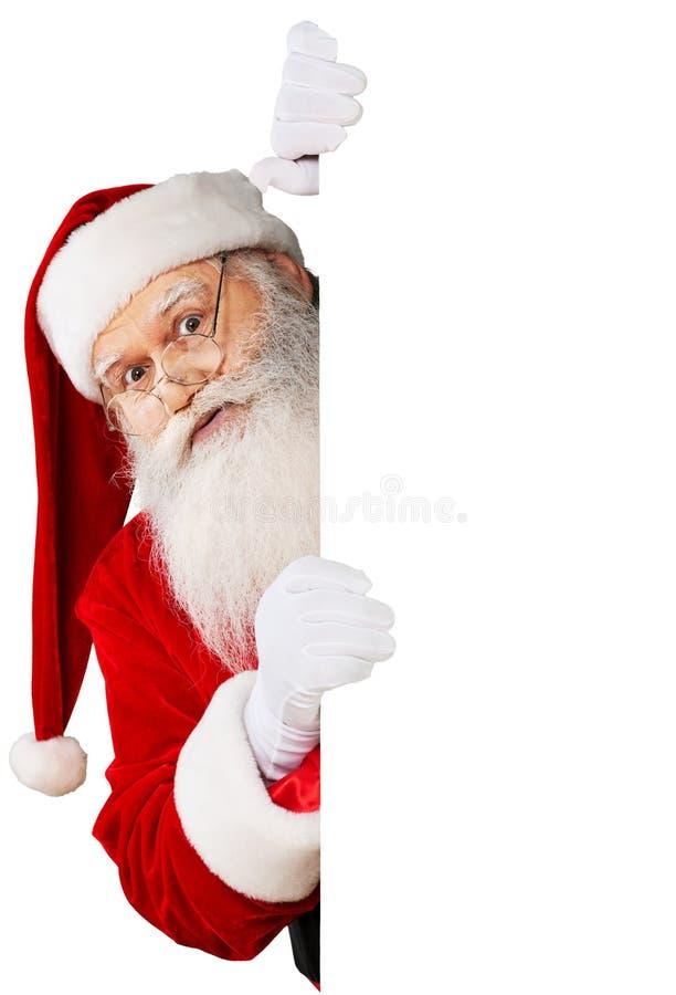Retrato de Santa Claus de sorriso no branco imagens de stock