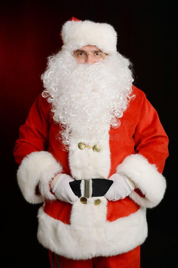 Retrato de Santa Claus tradicional fotografia de stock royalty free
