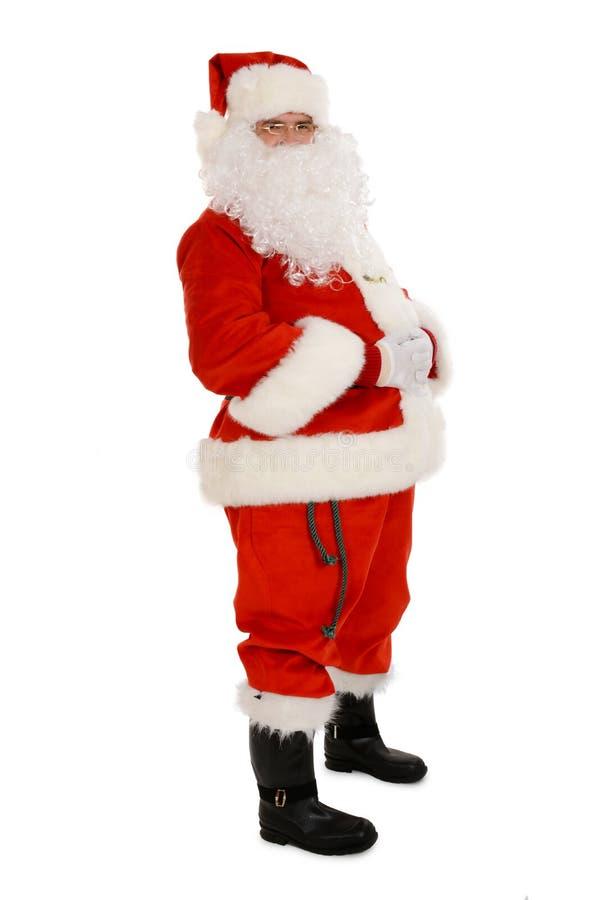 Retrato de Santa Claus tradicional, estúdio imagens de stock royalty free