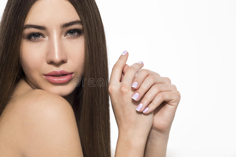 Retrato de sedução da menina imagens de stock