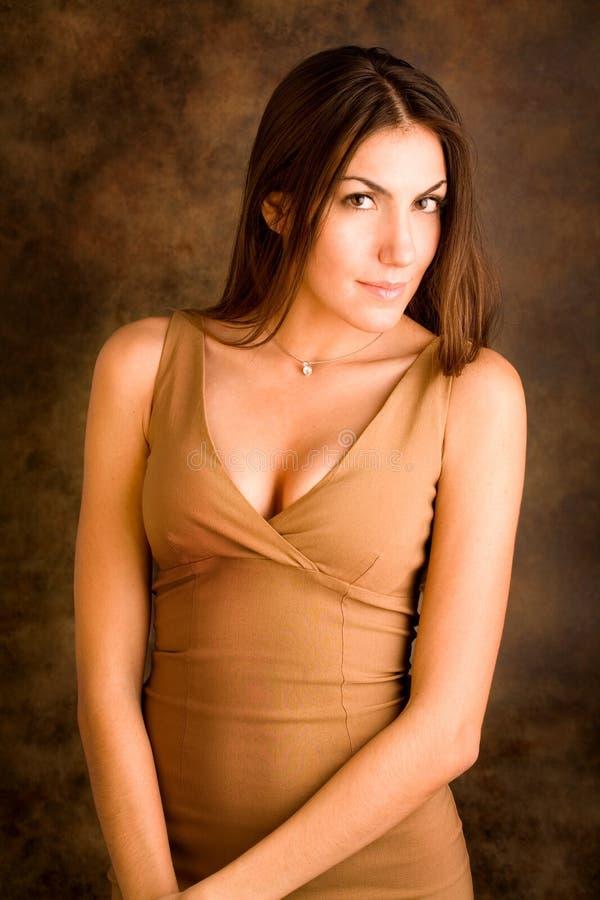 Retrato de senhora sofisticada fotos de stock royalty free