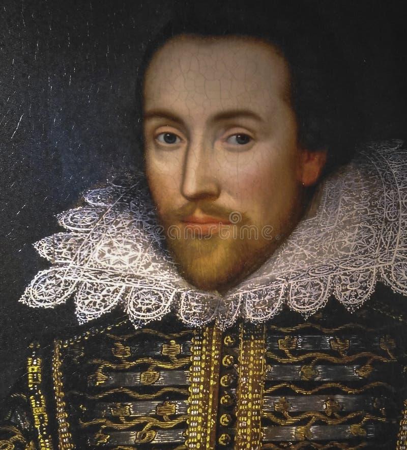 Retrato de Shakespeare no museu do stratford, Londres foto de stock