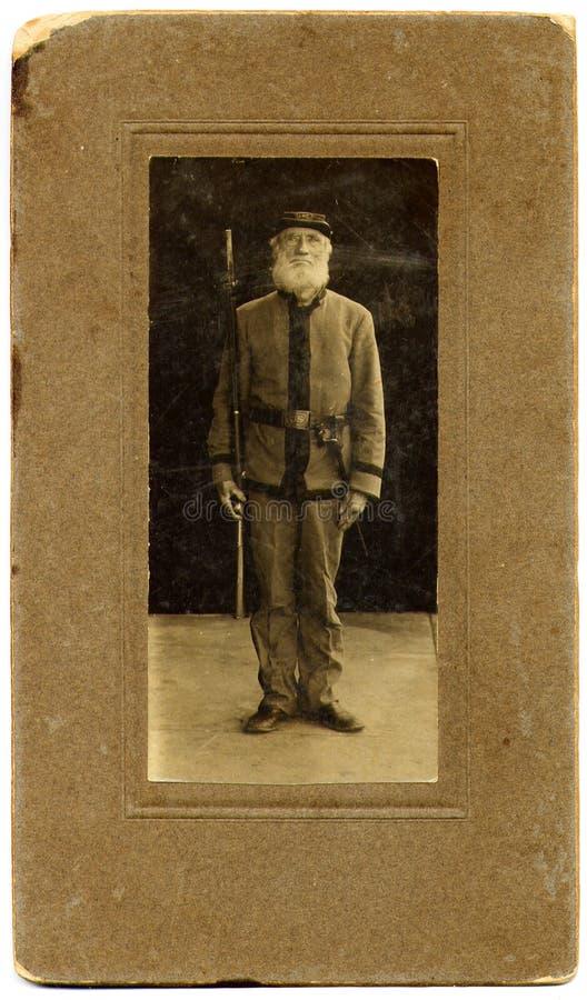 Retrato de Soilder dos 1870's do vintage imagem de stock royalty free