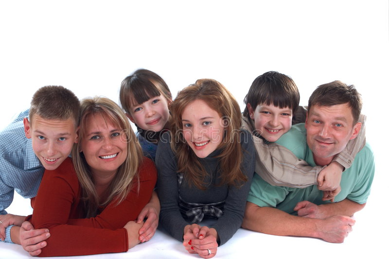 Retrato de sorriso da família