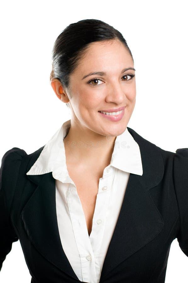 Retrato de sorriso da mulher de negócio foto de stock