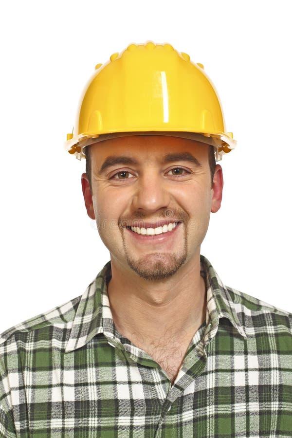 Retrato de sorriso do trabalhador manual imagens de stock