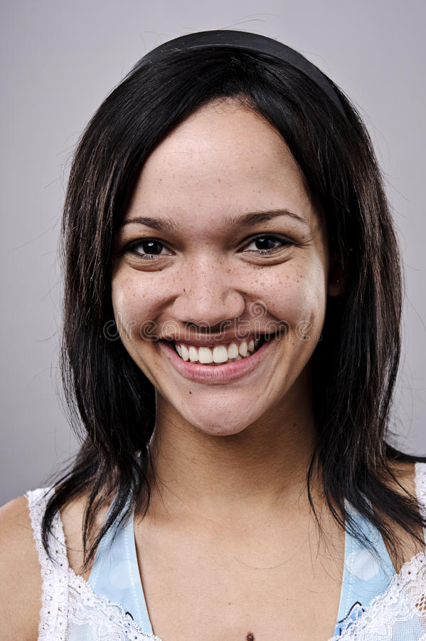 Retrato de sorriso feliz imagens de stock