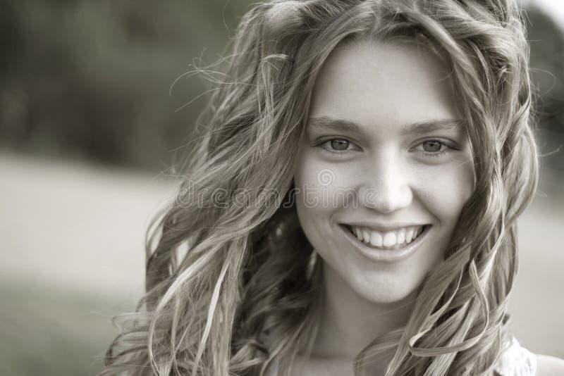 Retrato de sorriso modelo foto de stock
