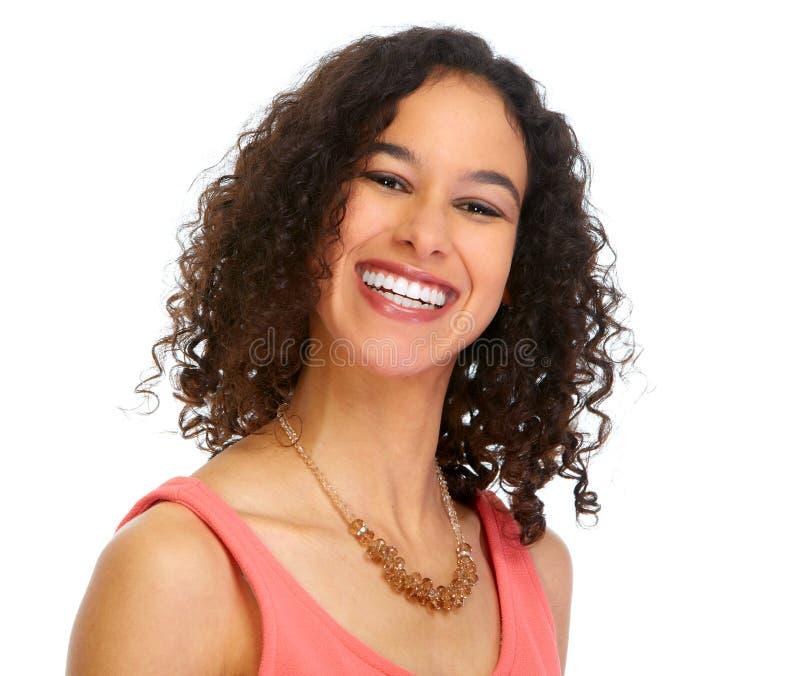 Retrato de sorriso novo da mulher de negócio imagem de stock