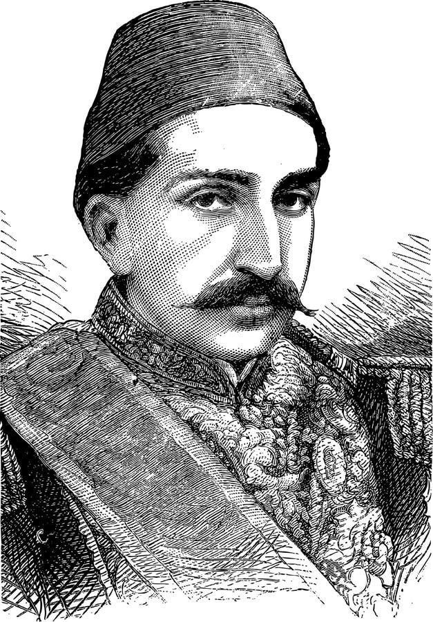 Retrato de Sultan Abdulhamid II foto de stock royalty free