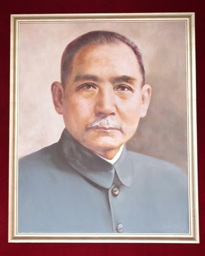 Retrato de Sun Yat-sen fotos de archivo