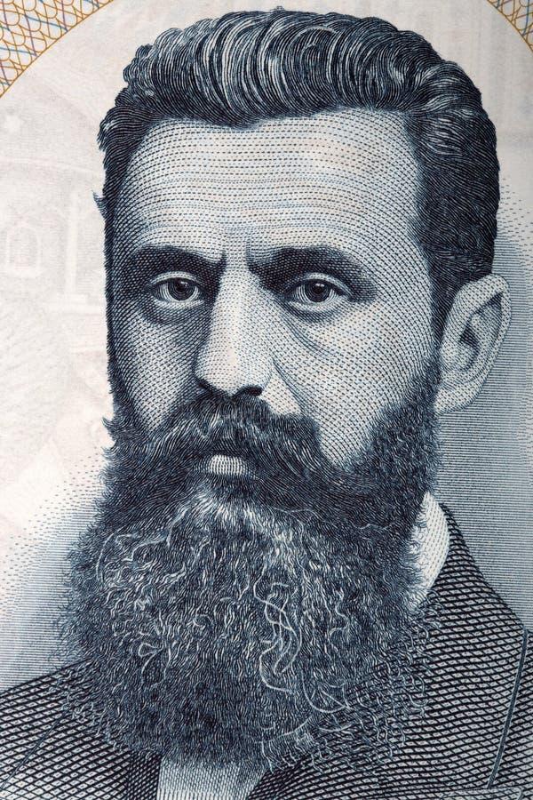 Retrato de Theodor Herzl foto de archivo