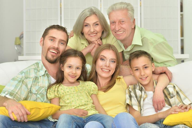 Retrato de três gerações imagens de stock royalty free
