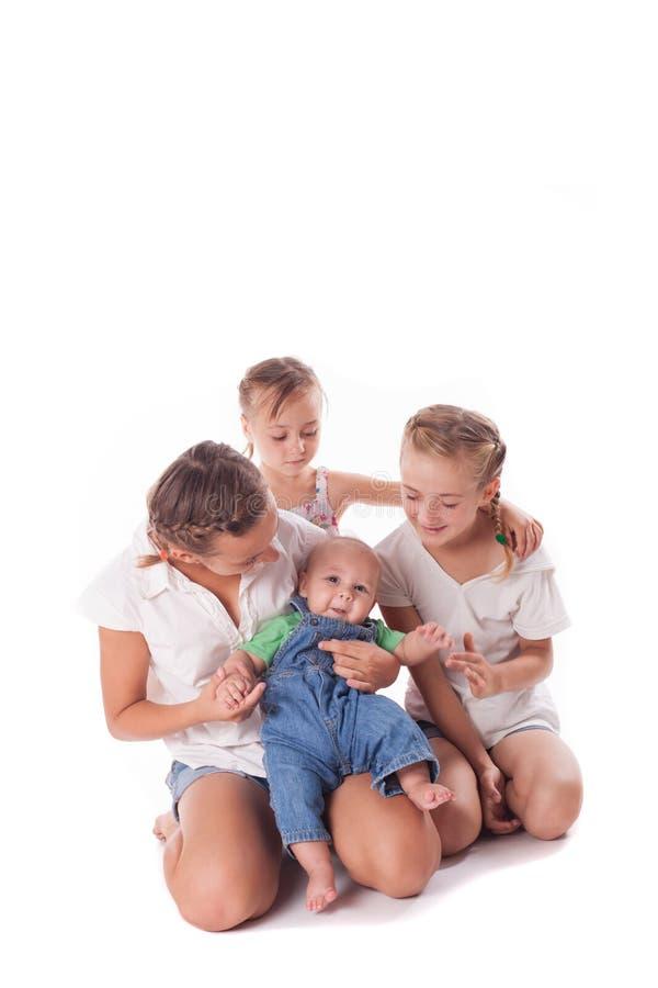 Retrato de três irmãs fotos de stock royalty free