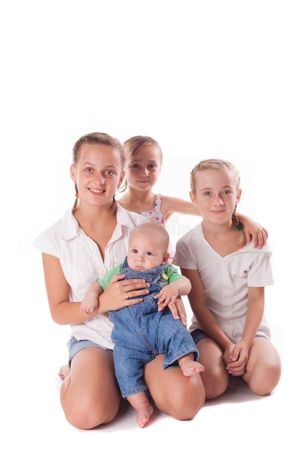 Retrato de três irmãs imagens de stock