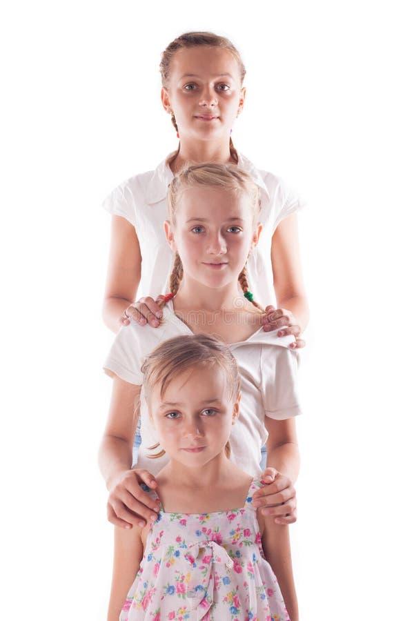 Retrato de três irmãs foto de stock royalty free