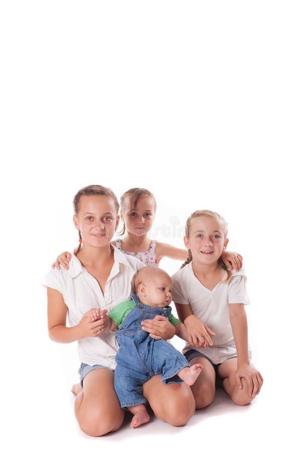 Retrato de três irmãs fotos de stock