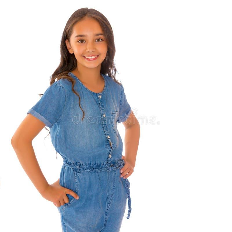 Retrato de um adolescente asiático bonito foto de stock royalty free