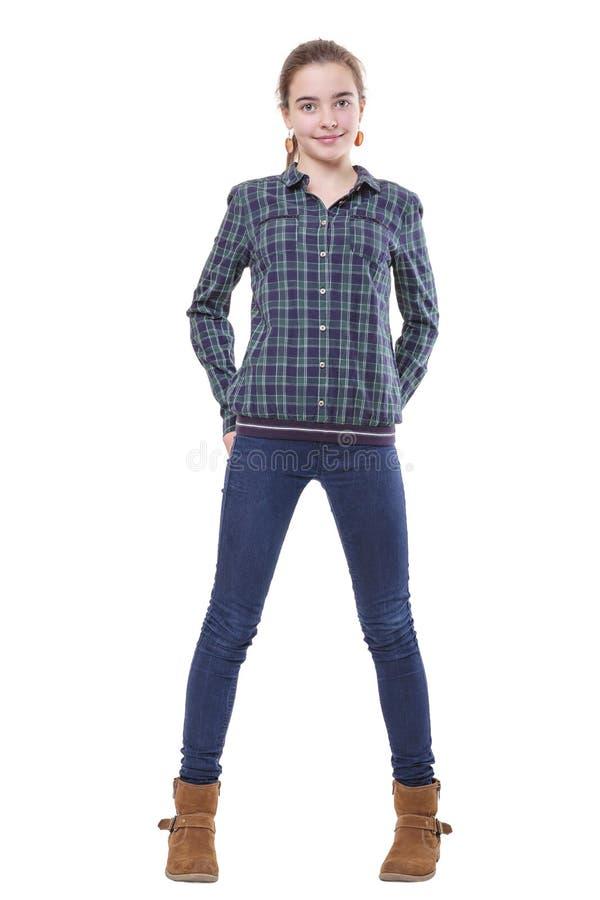 Retrato de um adolescente de sorriso fêmea imagens de stock