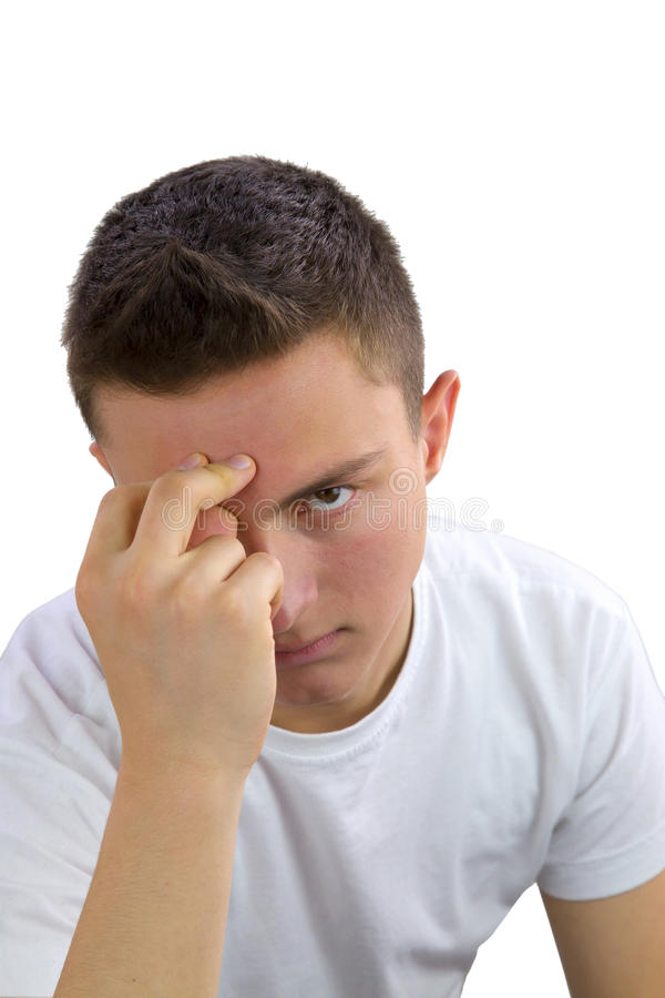Retrato de um adolescente hndsome imagens de stock royalty free