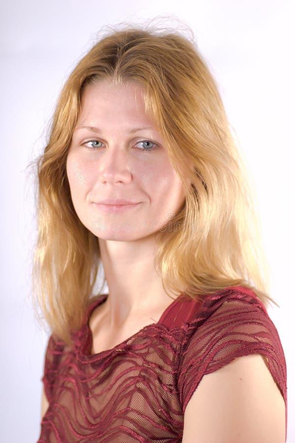 Retrato de um blondie fotografia de stock