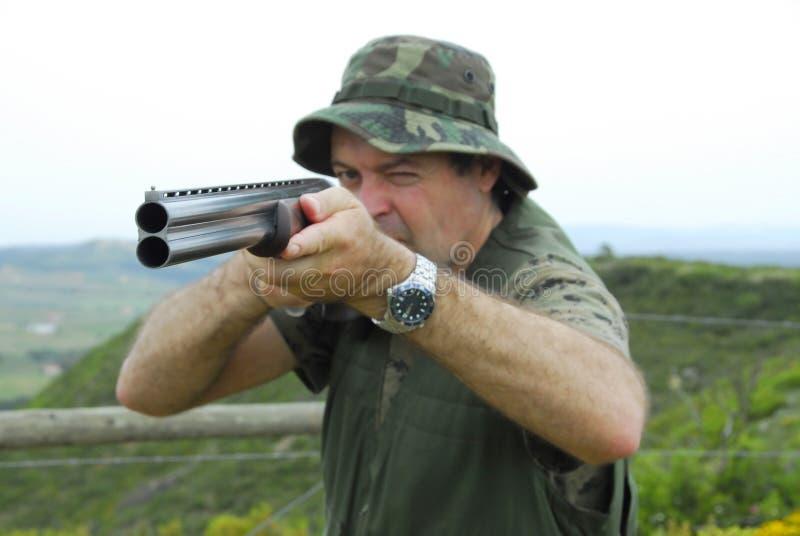 Retrato de um caçador imagens de stock royalty free