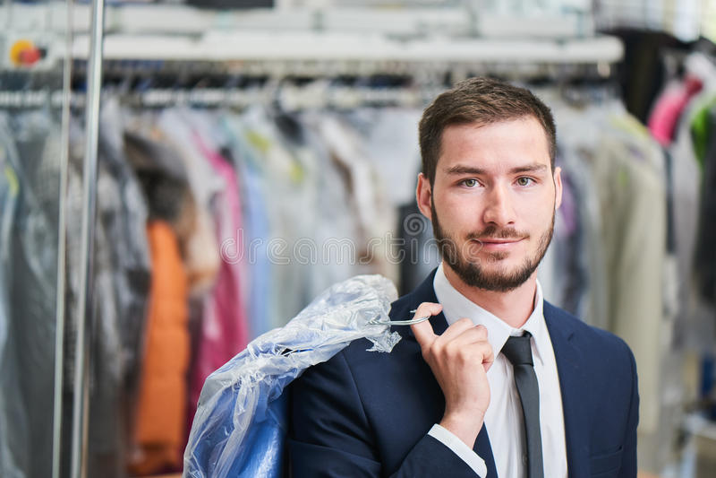 Retrato de um cliente masculino fotos de stock