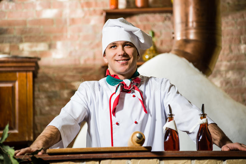 Retrato de um cozinheiro foto de stock royalty free
