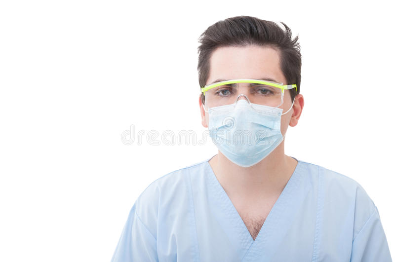 Retrato de um dentista masculino foto de stock