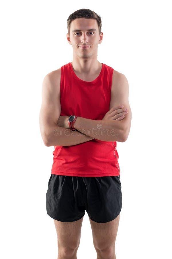 Retrato de um desportista atrativo do atleta dentro imagem de stock royalty free