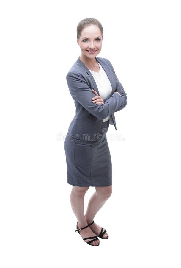 Retrato de um empregado novo do banco imagem de stock