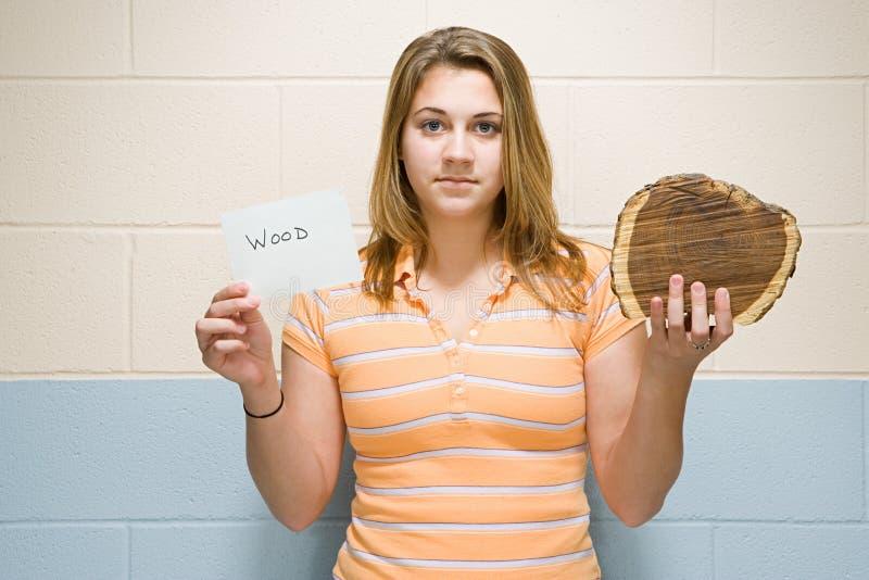 Retrato de um estudante fêmea fotografia de stock royalty free