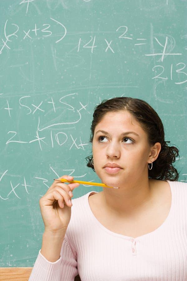 Retrato de um estudante fêmea fotografia de stock