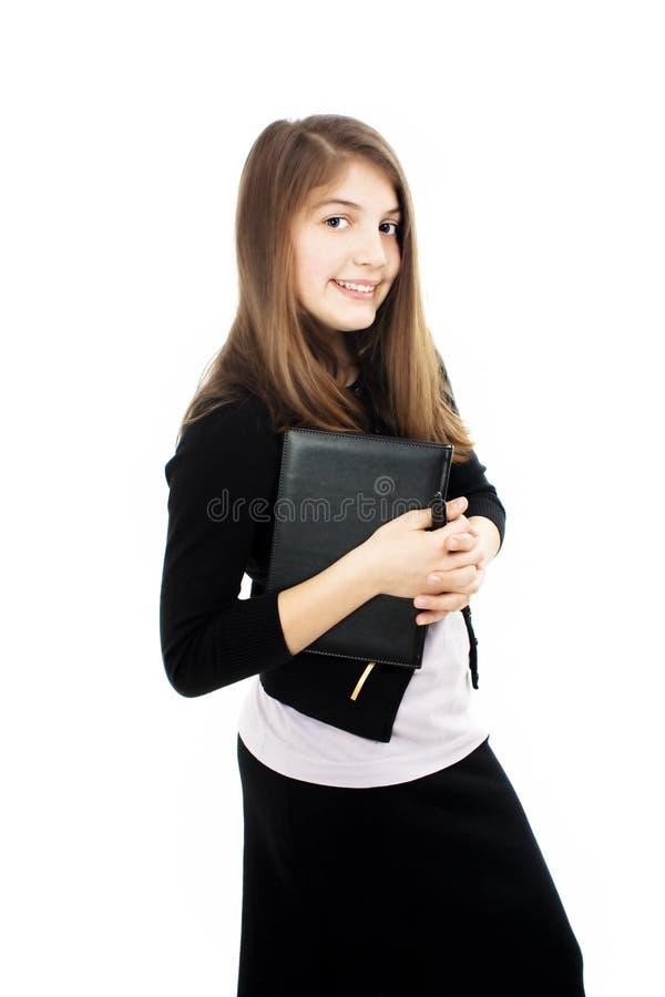Retrato de um estudante fêmea novo bonito foto de stock