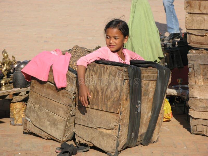 Retrato de um formulário bonito Katmandu da menina imagem de stock royalty free