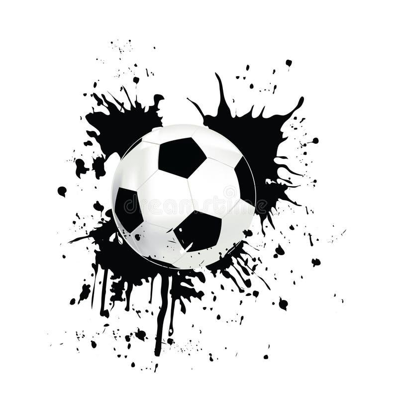 Retrato de um futebol ilustração royalty free