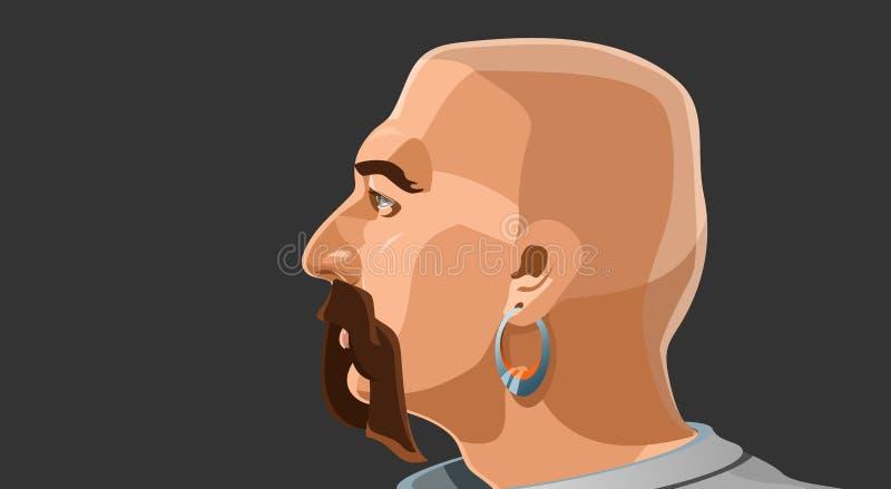 Retrato de um homem ilustração royalty free