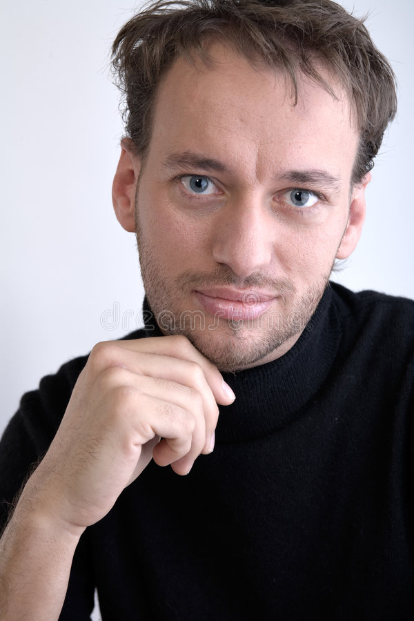Retrato de um homem adulto imagem de stock