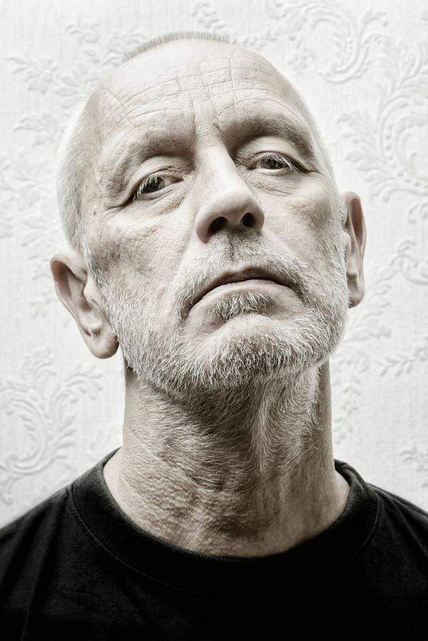 Retrato de um homem altivo e arrogante foto de stock royalty free