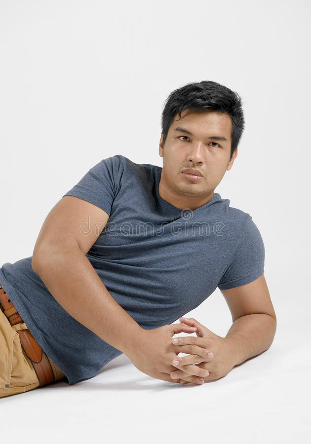 Retrato de um homem asiático fotos de stock royalty free