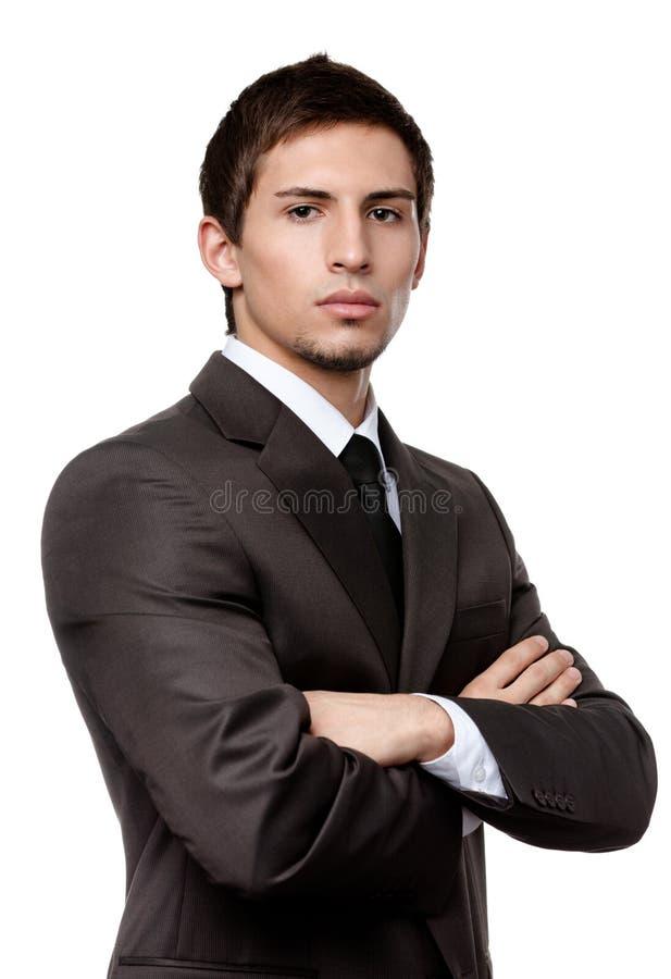Retrato de um homem considerável imagens de stock royalty free