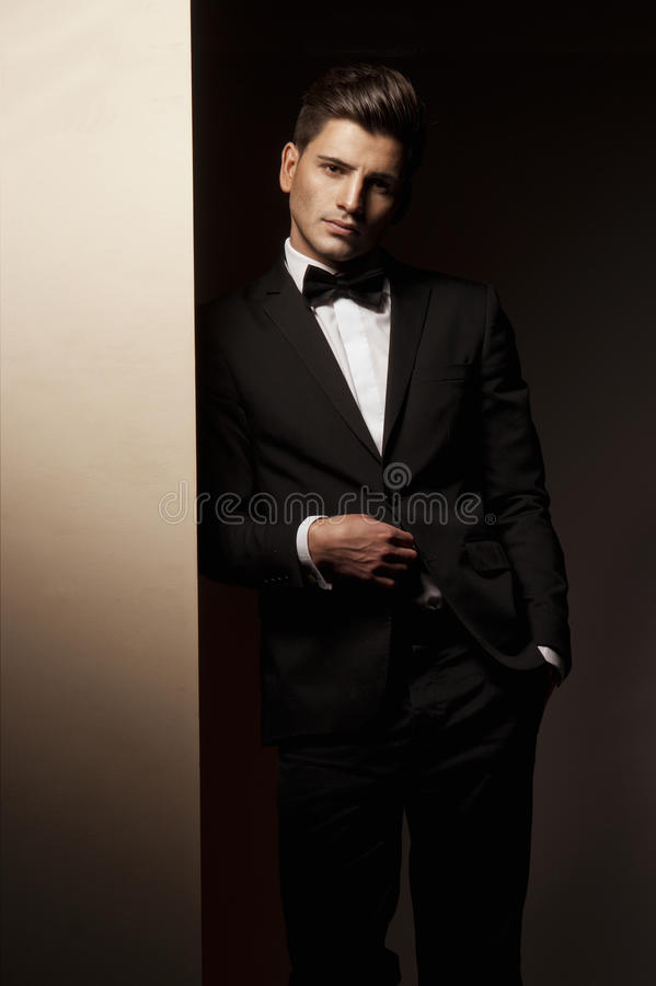 Retrato de um homem considerável novo fotografia de stock royalty free