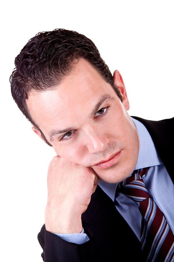 Retrato de um homem de negócio aborrecido imagem de stock royalty free