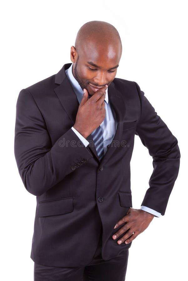 Retrato de um homem de negócio afro-americano novo foto de stock